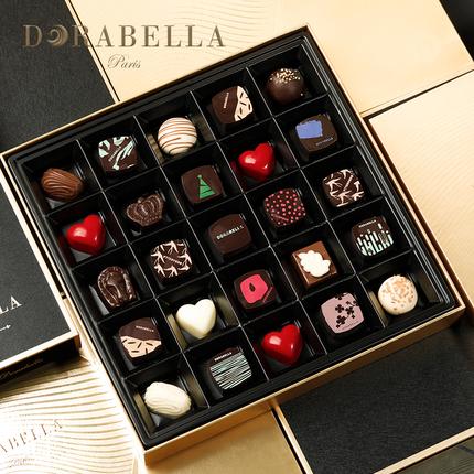 朵娜貝拉黑巧克力禮盒裝高檔送女友男友情人節限定款生日禮物零食