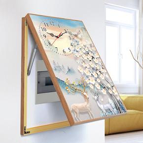 Декоративные часы,  Современный простой амперметр коробка живопись нордический электричество тормоз крышка блок скользящий гидравлическое давление распределение мощности коробка настенные часы часы перфорация вертикально, цена 995 руб