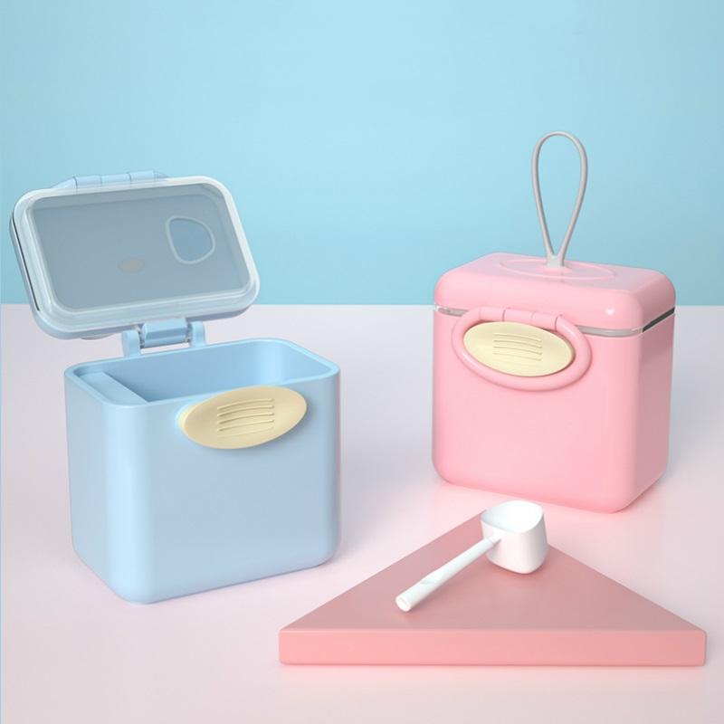 咕叽熊奶粉盒便携外出储存盒密封装辅食婴儿外带大容量分层米粉格