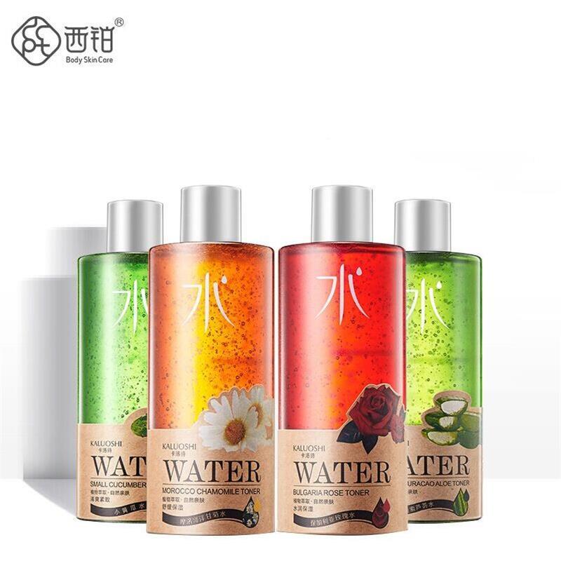 植物爽膚水 不含酒精補水保濕滋潤收縮毛孔洋甘菊玫瑰黃瓜蘆薈水