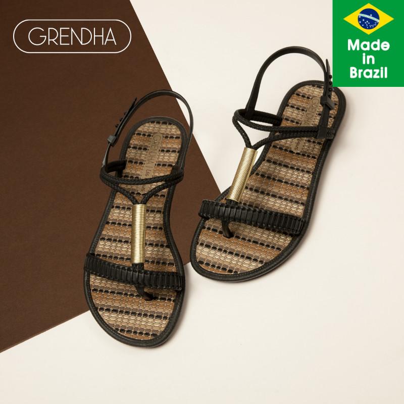 巴西 GRENDHA 里维埃拉系列 女士工字夹脚防金属凉鞋