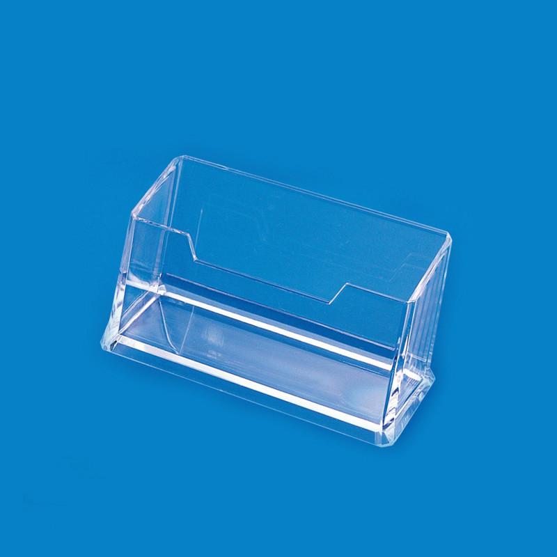 名片盒桌面商务办公收纳盒男女士创意多层名片座透明名片夹大容量