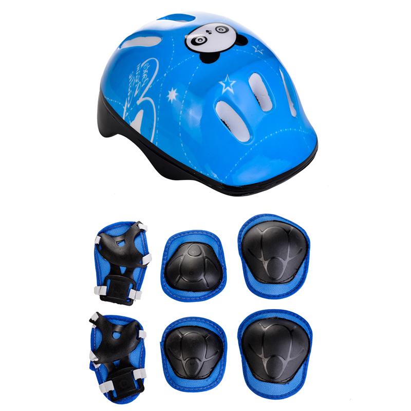 轮滑儿童护具护腕护膝套装自行车滑板车溜冰鞋平衡车头盔护肘v轮滑
