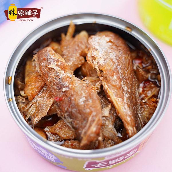 林家铺子 黄花鱼罐头 100g*4罐 聚划算+天猫优惠券折后¥15.8包邮(¥25.8-10)多味可选
