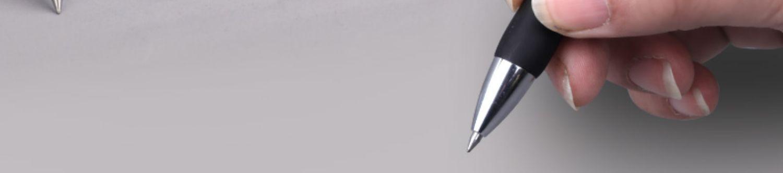 得力按动学生用子弹头碳素圆珠笔