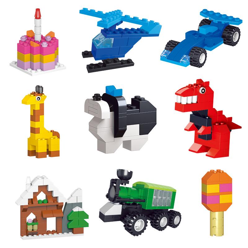 儿童益智小积木拼装玩具积木开发智力男女孩澳洲1000幼儿颗粒拼图