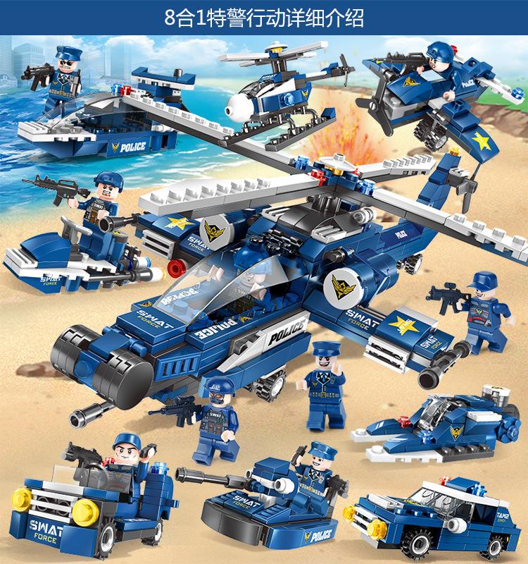 兼容积木男孩益智动脑小颗粒拼装玩具儿童汽车模型女孩城堡详细照片