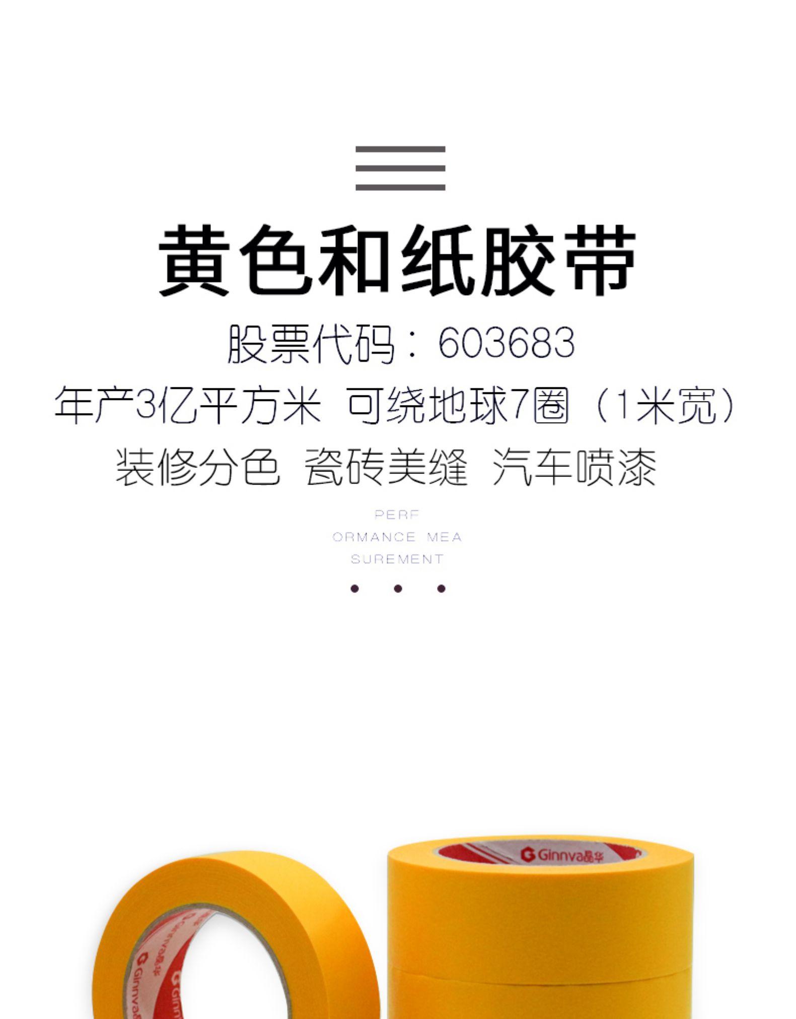 晶华和纸胶带黄色装修装饰喷漆遮蔽无痕手撕分色纸胶带套装定製米长瓷砖美缝纸胶带详细照片