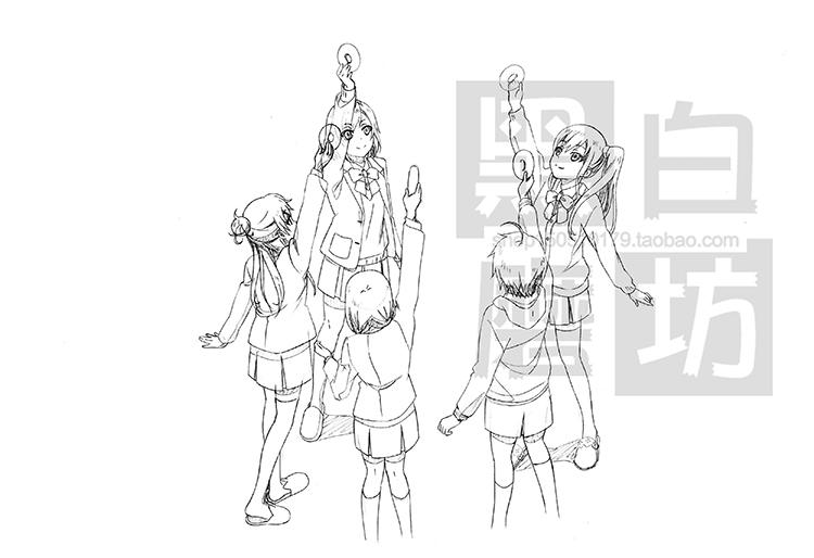 白箱 SHIROBAKO 设定线稿 原画分镜 绘画素材 素描