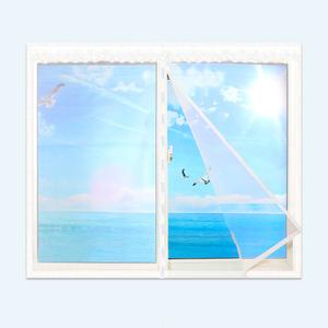 納米磁性防蚊紗窗加密縫魔術貼紗網自粘DIY換窗紗可定制無釘安裝