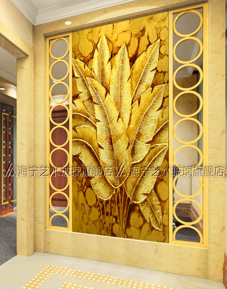glass porch screen partition home living room background wall deep ...