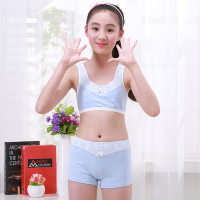 f2cc45206e3f7 Girls underwear tube top development period 9-12 years old girl small ...