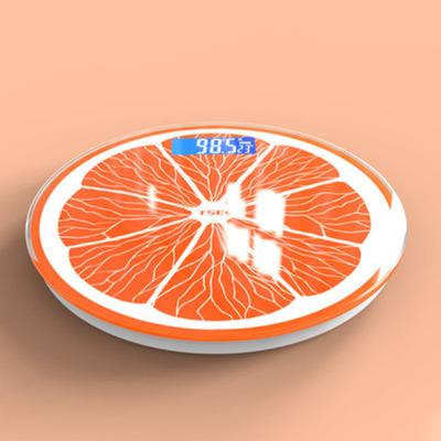圆形电子称精准USB充电体重秤体