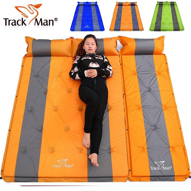 自游人帐篷防潮垫 加厚户外双人自动充气垫床3cm午睡垫露营草地垫