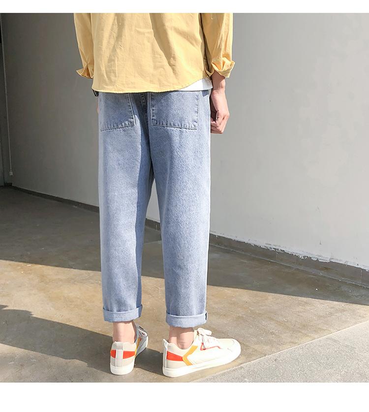 2020直筒裤新款港风bf垂感休闲裤宽松运动mm裤子K119-P40