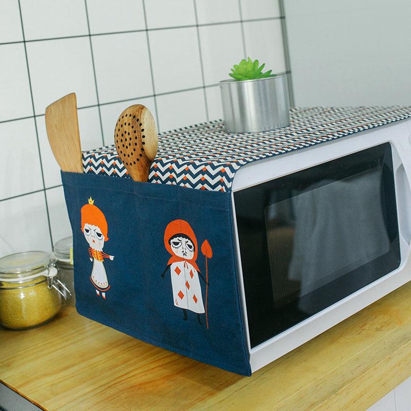 Нордический мультики милый корейский кухня микроволновой печи обложка тканевая пыленепроницаемый ткань полотенце общий льняная ткань жаркое коробка рука суперобложка