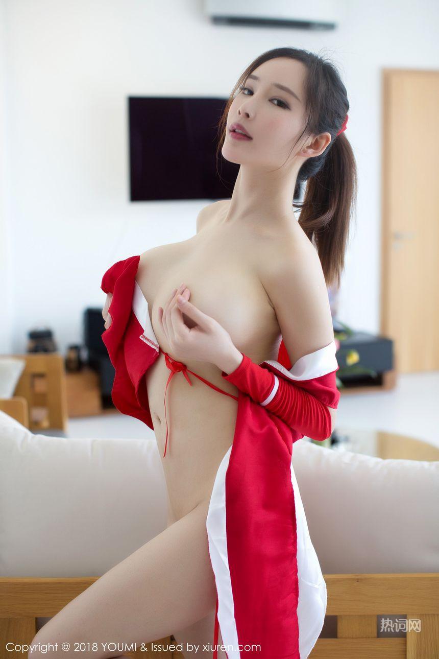 女神周妍希美乳露点喷血诱惑COSPLAY写真(9) 美女写真 热图3