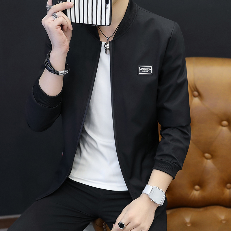 男士外套春季2018潮流新款春秋夹克男青年休闲韩版春装修身薄衣服