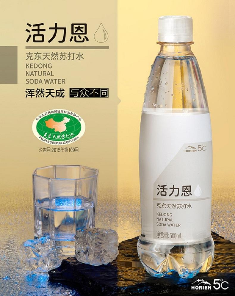 国家地理标志保护产品 HORIEN 活力恩 5°C 克东天然无气苏打水 500ml*6瓶 天猫优惠券折后¥16包邮(¥36-20)