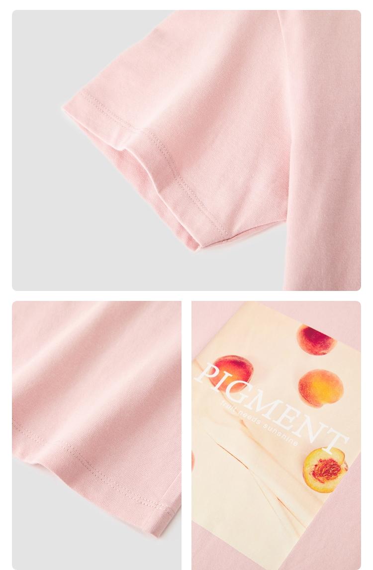 森马短袖T恤女短款花卉图案性感镂空上衣2021夏新款潮流BM风t恤(【79元拍3件】森马情侣纯棉短袖T恤)