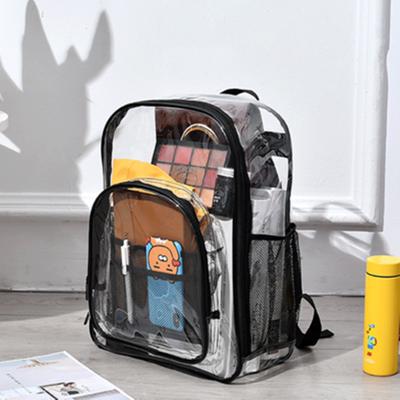 透明包包果冻包双肩包韩版pvc全透防水大容量简约ins女学生背包