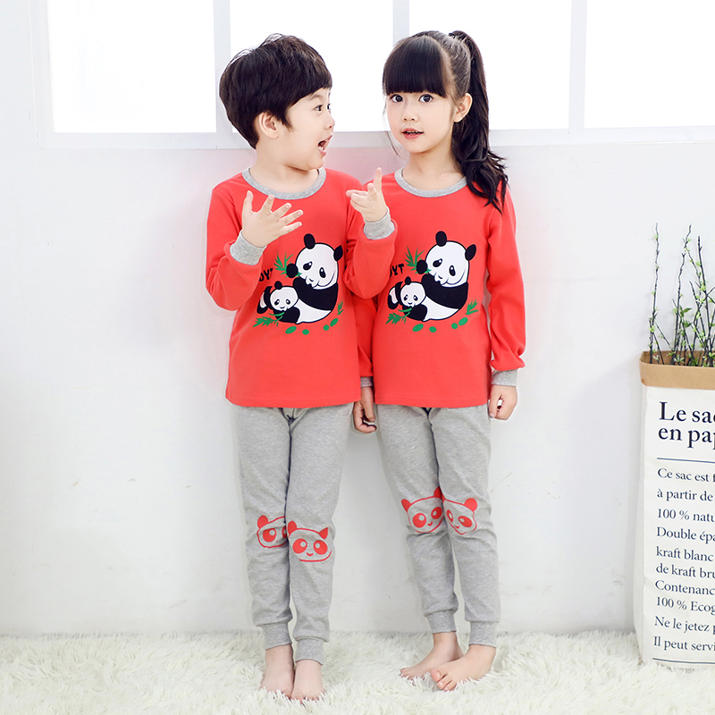 48f6b0e7e4bf Spring and autumn season Daughter Pajamas Boy Thin section Long sleeve Pure  cotton baby Tracksuit Children's clothing Girl Long johns