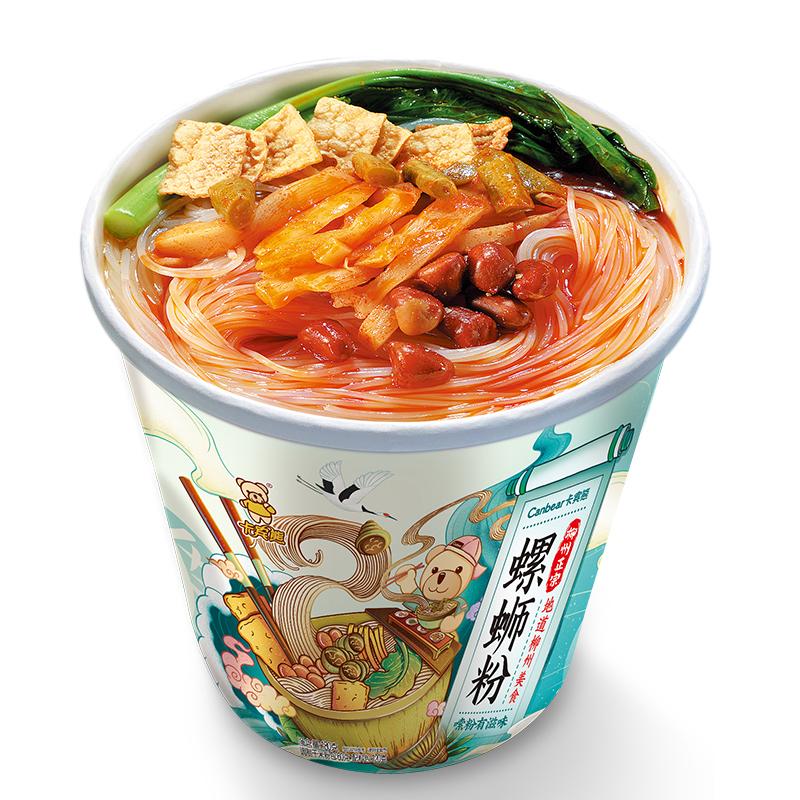 卡宾熊180g*6桶装冲泡型螺蛳粉柳州特产免煮懒人方便速食夜宵粉丝