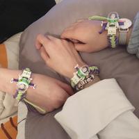 Браслет Buzz Lightyear Строительный блок вязанные Браслет-браслет ученик мужские и женские Подарок на день рождения для влюбленной пары Браслет ювелирная личность