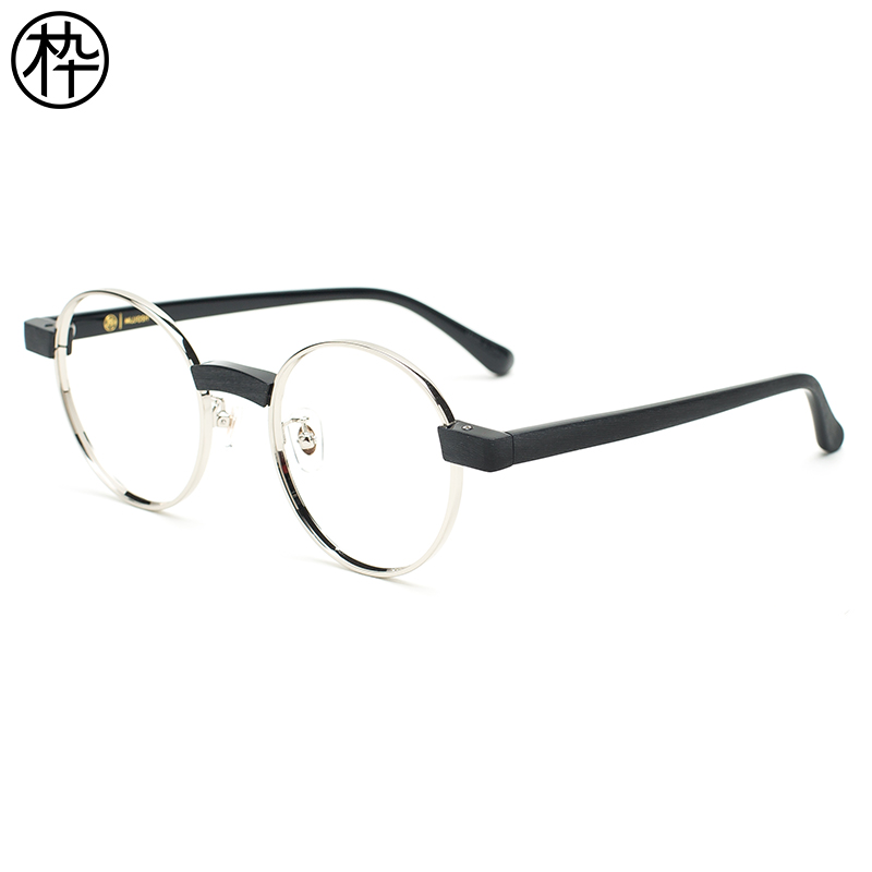 ab393a32b2 Concave modeling glasses wood ninety FM1730097 retro round box personality  tide people glasses frame glasses frame