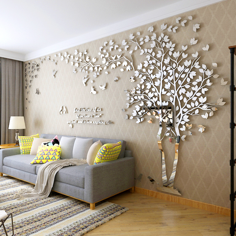 Acrylic 3d Stereo Wall Stickers Wallpaper Self Adhesive Living Room Wall  Stickers Room Sofa TV Background Wall Decoration