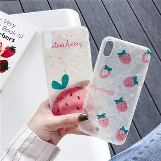 Summer strawberry 8plus apple x mobile phone case 12proMax/XR/ for iPhoneX/7p/6 female silicone