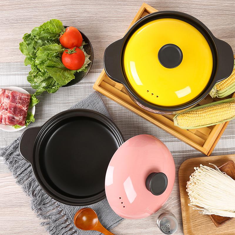 幫企陶瓷砂鍋燉鍋家用燃氣煲湯鍋煤氣灶專用耐高溫小號煲仔飯沙鍋