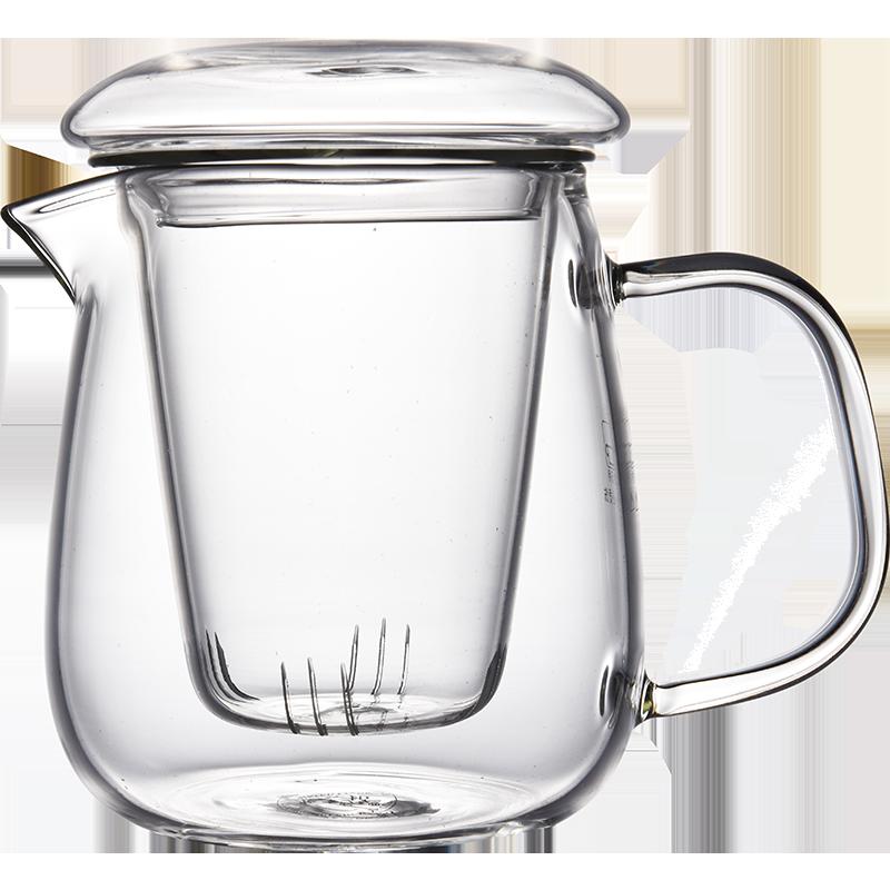 玻璃茶壶泡茶壶防炸裂花茶壶过滤茶水分离泡茶器水壶耐热小茶壶