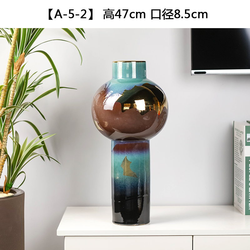 New Chinese style ceramic glaze vase dried flower adornment desktop home sitting room of I and contracted flower arrangement that occupy the home furnishing articles