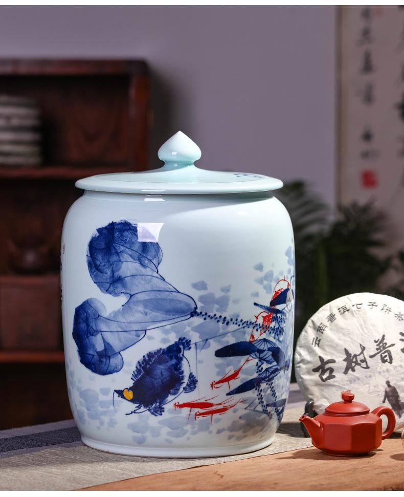 Jingdezhen ceramics hand - made porcelain tea pot home moistureproof mildew seal pot large with cover tea pot