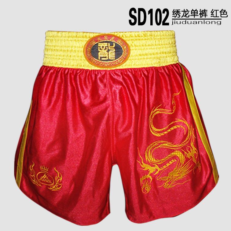 Цвет: Вышитый шорты красный дракон Sd102-4