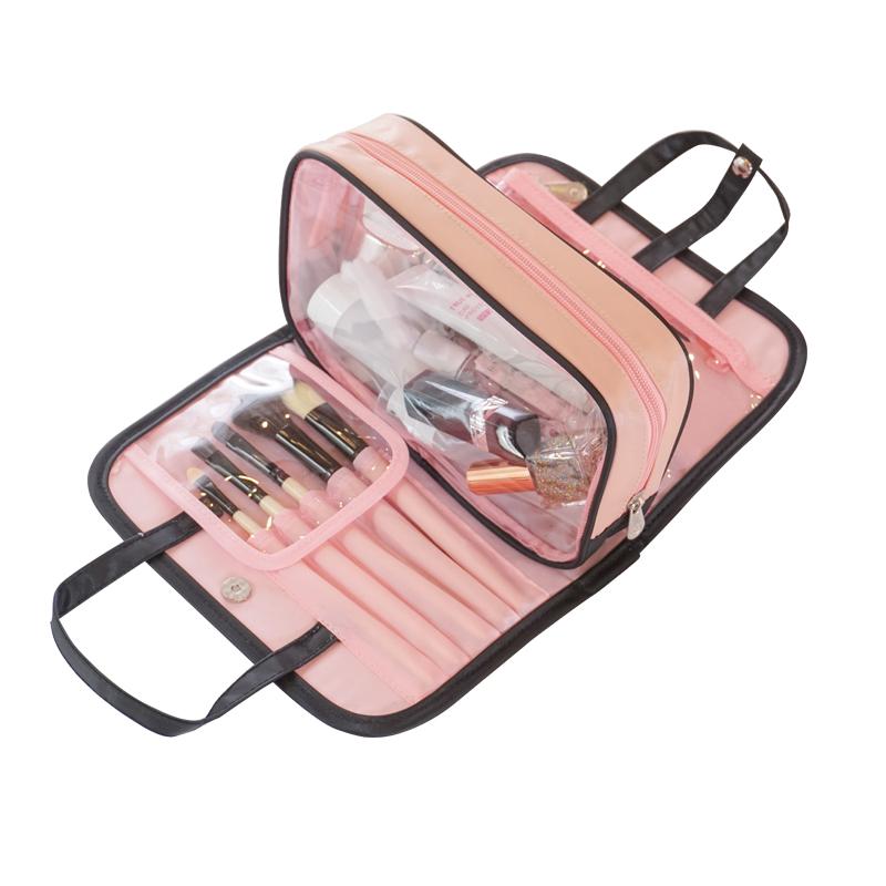 抖音同款化妆包手提洗漱包便携多功能收纳袋随身少女心化妆包【包邮】 - 最低购