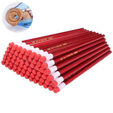 学生铅笔带橡皮头儿童彩色卡通铅笔套装无毒hb铅笔幼儿园100支装