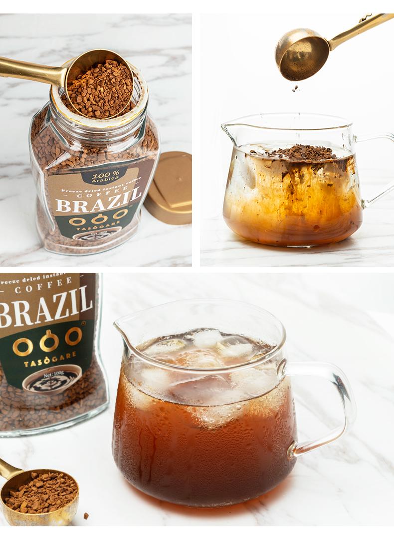 巴西进口 隅田川 黄金速溶冻干纯黑咖啡 美式无蔗糖 100g*2瓶 图13