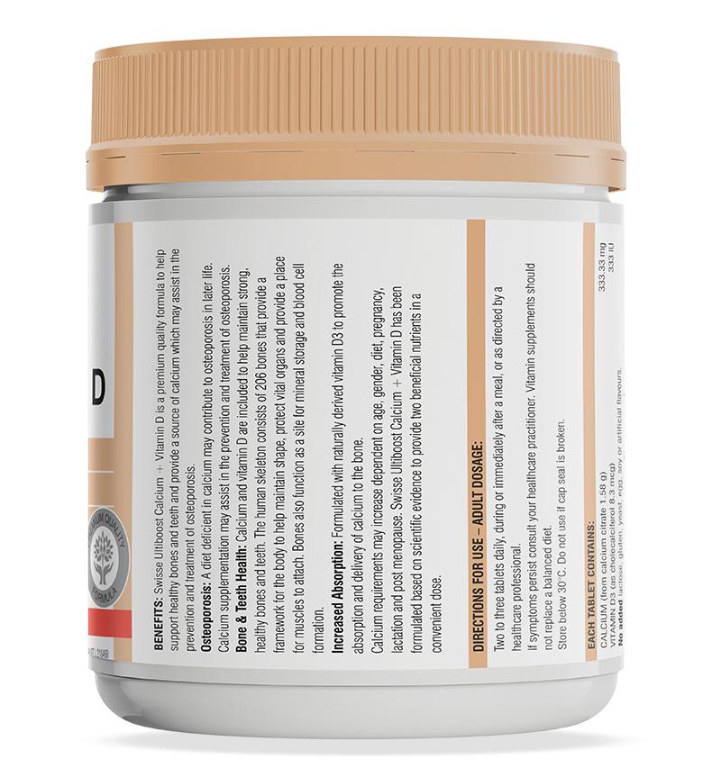 澳洲进口swisse钙+维生素D钙片150粒中老年成人补钙补钙孕期维D钙 维生素 第10张