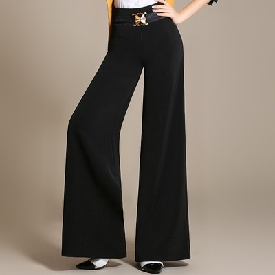 Friendship trousers Adult women Latin national standard dance trousers Modern Square dance wide legs loose feet throwing trousers