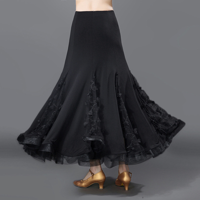 17 Female Modern Dance Practice Big Dresses, National Standard Friendship Dance Half-length Skirt