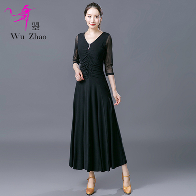 Adult Female Waltz National Standard Modern Dance Practice Performing Dresses and Long Skirts