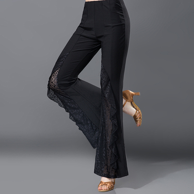 Women's Latin National Dance Trousers, Slim and Modern Social Dance Trousers
