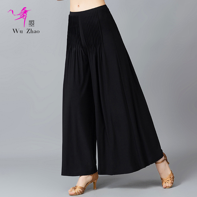 Adult Female Modern Dance Pants Fashion All-round National Standard Friendship Dance Broad-legged Drop Pants
