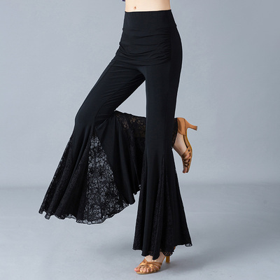 Adult Ladies Latin Dance Pants National Standard Social Dance Square Dance Practice Show Big Bell Pants