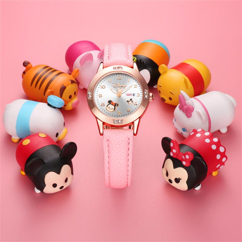 迪士尼儿童手表小学生女生少女米奇卡通初中可爱女孩女童防水夜光