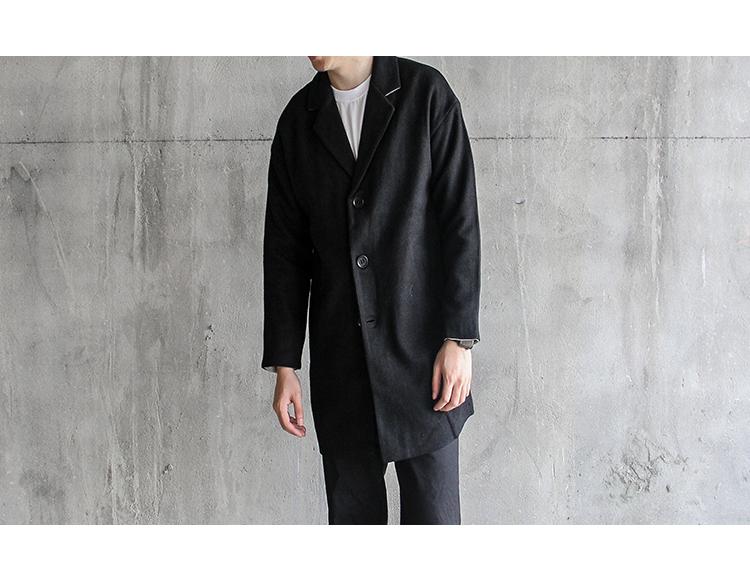 Dreamer 2017 mùa đông mới của Nhật Bản retro áo gió áo len áo khoác nam phần dài