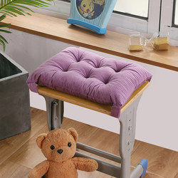 Student classroom autumn and winter corduroy small bench cushion to keep warm and thicken strap pad factory dormitory solid color soft cushion
