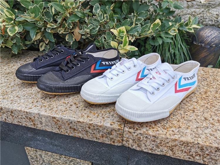 广飞跃宗男女帆布鞋运动鞋白球鞋跑步鞋復古经典田径鞋体考小白鞋详细照片